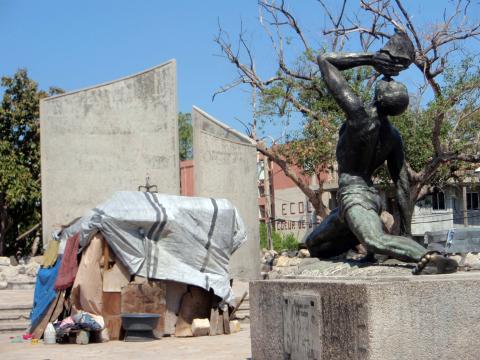 La statue de l'esclave fugitif