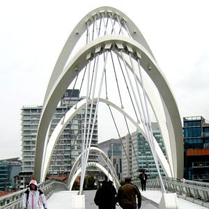 Entrance bridge to Melbourne Convention Centre